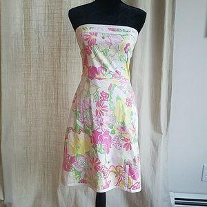 TiBi Strapless Colorful Dress